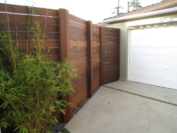 horizontal wood fence fremont ca